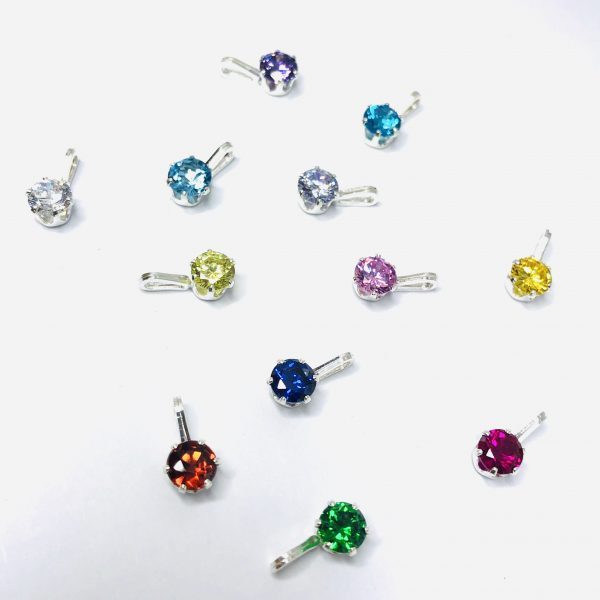 Cubic zirconia birthstones 12 different months of the year